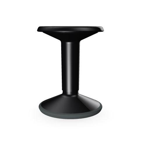 Interstoel multifunctionele kruk, ergonomisch, flexibel 65 cm zwart