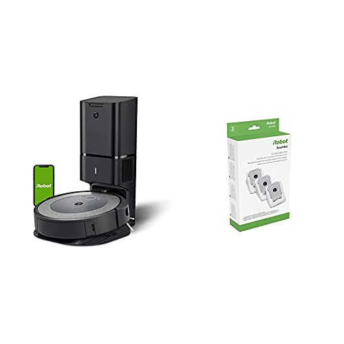 iRobot Roomba i3+ (3550) Robot Vacuum with Automatic Dirt Disposal Disposal - Empties Itself with iRobot Authentic Replacement Parts- Clean Base Automatic Dirt Disposal Bags