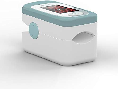 Taurus 985004000 - Taurus healthcare 8 seg rhythm - pulsioximetro de dedo, nivel de saturación de oxígeno en sangre, frecuencia y pulso, 8 segundos, compacto, ligero