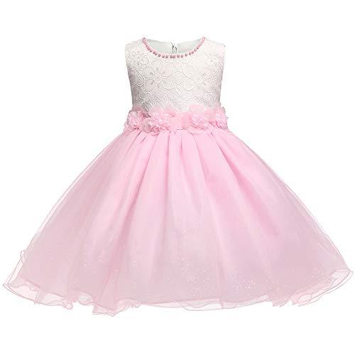 AHHYH roze meisjes partij kostuum prinses jurk (2-7 jaar oud)