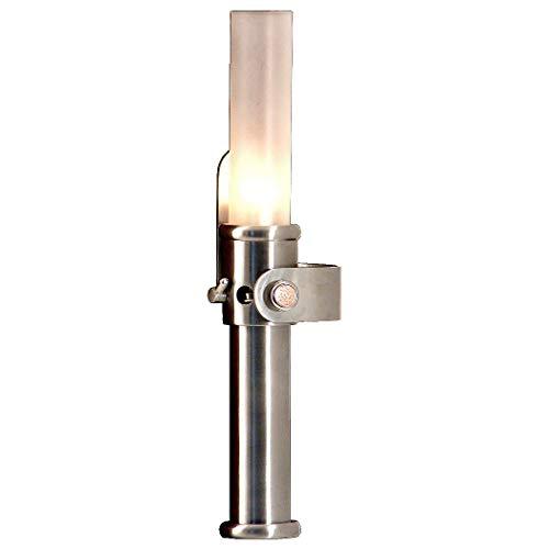 Petroleumlampe CABINLITE Edelstahl gebürstet mit Mattglaszylinder