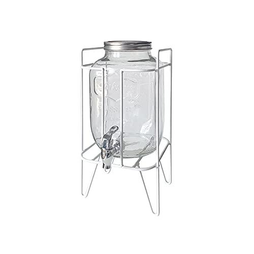 Jarra de Agua Jarra de agua fría con vidrio de 135 oz con llaves de bebidas de gran capacidad de grifo y base para reuniones familiares, fiestas de cumpleaños, autoservicio del hotel Tetera para té He