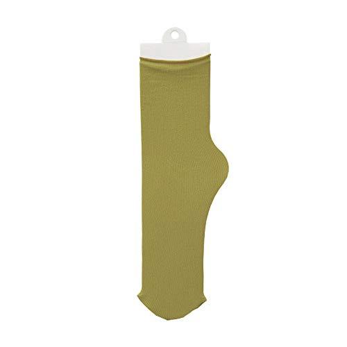 YYUYOM 3 Paar Socken Damen Herren Tube Socken Bonbon Farbe Haufen Haufen Socken Einfarbige Eissocken Strümpfe Damen-Matcha