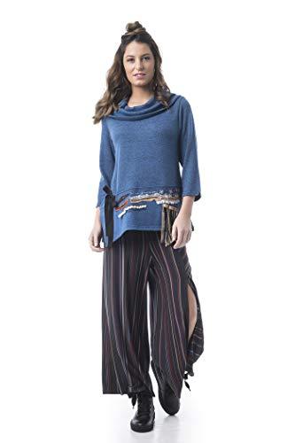 Mamatayoe Lugano Jersey, Azul (Blue/Black U), X-Large (Tamaño del Fabricante:XL) para Mujer