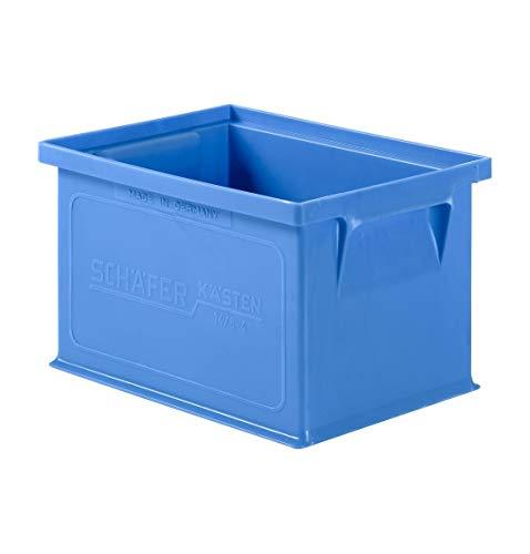 SSI Schäfer Stapelkasten Lagerkasten Regalkasten Serie 14/6-4 mit Griffmulde, Polypropylen 2,5 Liter Blau