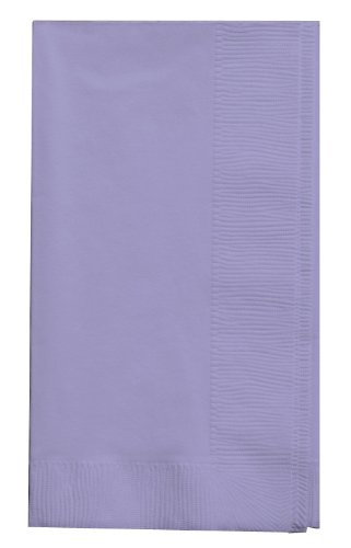 Creative Converting Touch of Color 2-Ply 50 Count Paper Dinner Napkins, Luscious Lavender