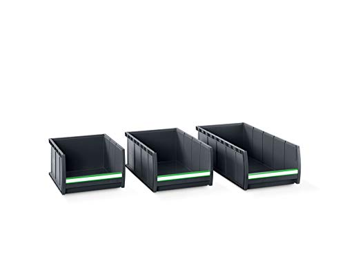 bott Sichtlagerkasten Box 1.1.65 mit Beschriftungsclip, 48 Stück, 130 x 100 x 65 mm, 13022045.19