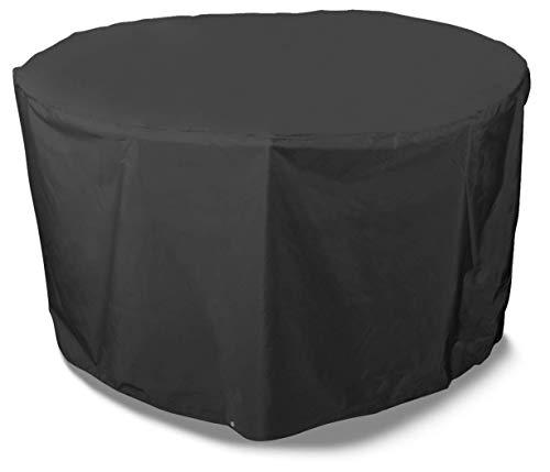 Bosmere D523 Storm Black Housse pour Salon de Jardin Rond 6/8 Places Noir 104 cm