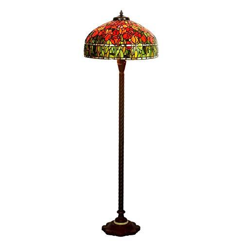 WJIE Tiffany/Vertical/Brazo Largo/lámpara de Mesa Grande, lámpara de Dormitorio, Restaurante/Restaurante/salón/Sala de exposición/Pasillo/balcón/despacho