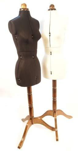 Lewenstein Lady Valet Buste de Couture Mannequin Femme réglable - Blanc/Small