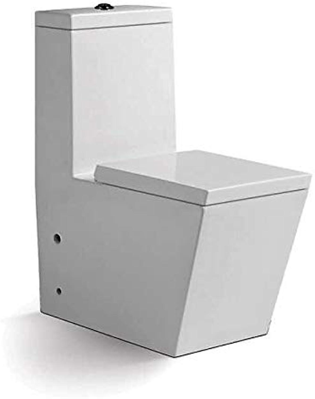 Art-of-Baan - Design Boden WC mit Spülkasten Keramik mit Lotuseffekt, weiss Hochglanz & Soft-Close Sitz, Stand Toilette, Tiefspüler (1883)
