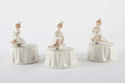 Bomboniere Geburt Taufe Kommunion Konfirmation Spieluhr Ballerina Porzellan 3 Verschiedene Motive DGS51244