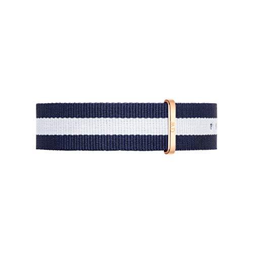 Daniel Wellington Classic Glasgow, Blau-weiß/Roségold Uhrenarmband, 20mm, NATO, für Herren