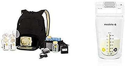 Medela Pump in Style Advanced Breast Pump with Backpack and 100 Count Breast Milk Storage Bags, Electric Breastpump for Double Pumping, Ready to Use Breastmilk Bags for Breastfeeding
