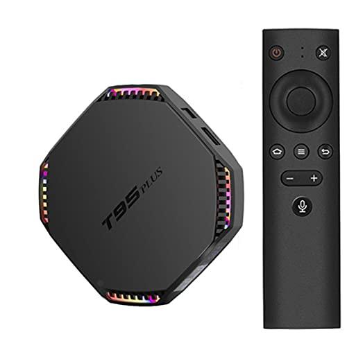 GEQWE Android 11.0 TV Box 8GB RAM 64GB ROM T95 Plus Smart TV Box RK3556 Quad-Core 8K / 1000M LAN / 1080P / USB 3.0 / H.265 / WiFi 2.4G / 5G Android TV Box Reproductor Multimedia,8gb+64gb