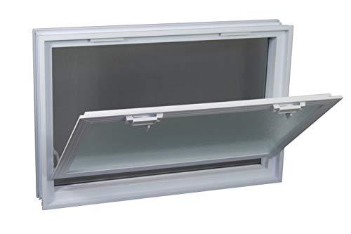 FUCHS Lüftungsfenster anstatt 6 Glassteine im Format 19x19x8 cm – mit Fliegengitter