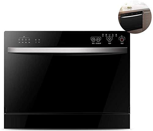 WYZXR Lave-Vaisselle de Table 220 V, Lave-Vaisselle encastré à Domicile Automatique, 6 Couverts, 5 Fonctions de Lavage