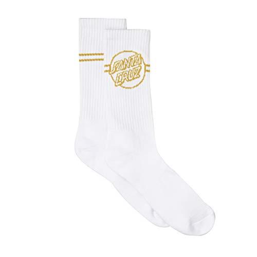 Santa Cruz Opus Dot Stripe Crew Socks - White