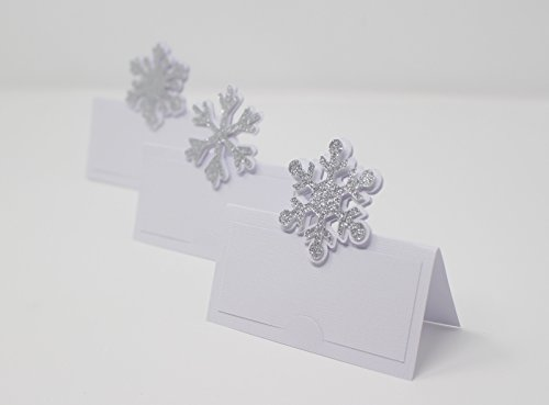 All About Details Snowflakes Place Cards (Silver)