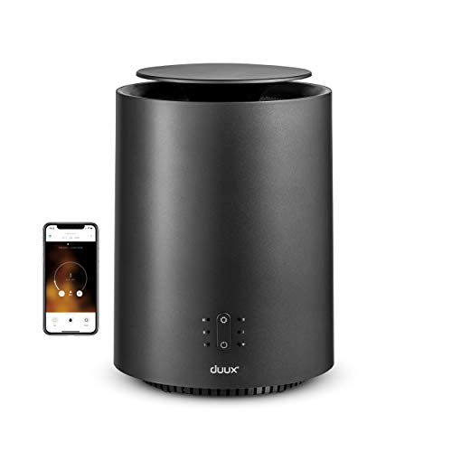 Duux Chauffage céramique 360° - Chauffage d'appoint de basse consommation - Chauffage soufflant électrique avec puissance de 1800W - Chauffage soufflant silencieux idéel pour votre chambre/maison