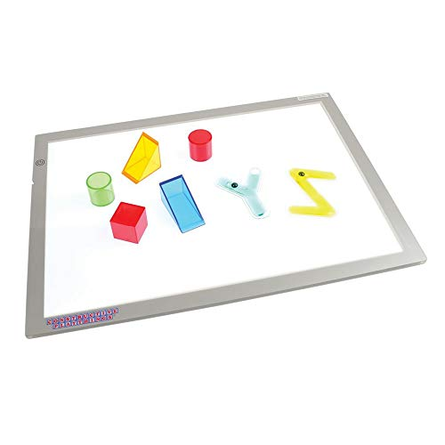 Constructive Playthings - CHG-74 Toys Ultra Bright LED Light Panel, Interactive Flat Panel Light Fixture