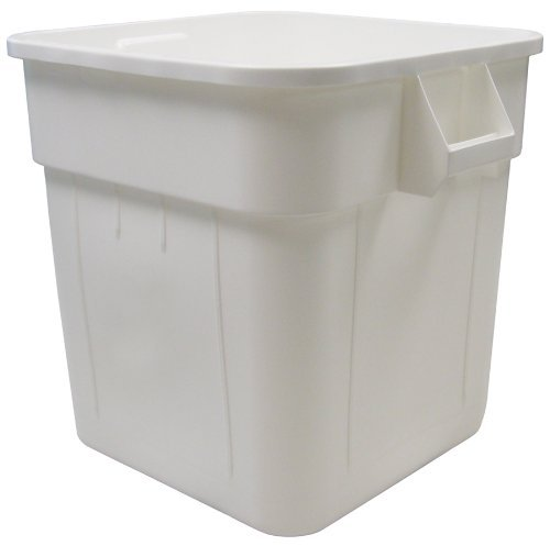 Continental 2800WH, Huskee White Square Receptacle, 32-Gallon Capacity, 21-1/2