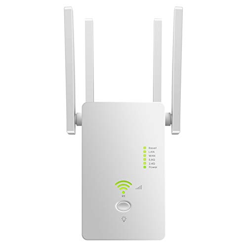 Mini Enrutador WiFi Gigabit De 1200 Mbps, Banda Dual De 2,4 GHz...