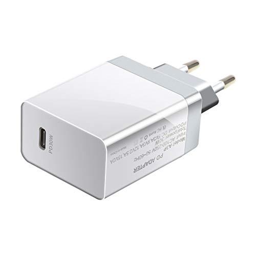 JIE Adaptador de Cargador rápido PD USB-C 18W 30W 45W 60W 65W Qc3.0 Pd3.0 para Xiaomi White EU