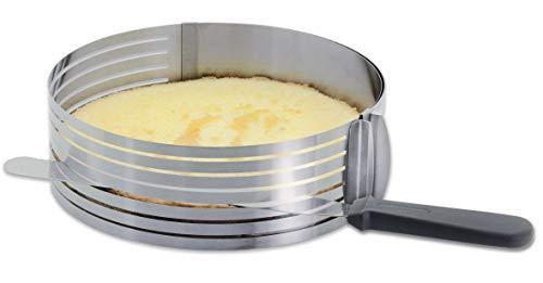 Kuchen-Schneidehilfe mit Messer