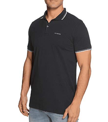 Ben Sherman Polo-Hemd Schlichtes Polo T-Shirt für Herren Kurzarm-Shirt Freizeit-Shirt Schwarz, Größe:XS