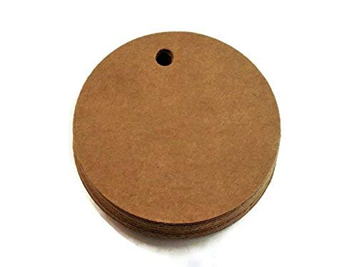 50 Two Inch Circle Paper 2021 spring and summer new Kraft Albuquerque Mall Gift Tags