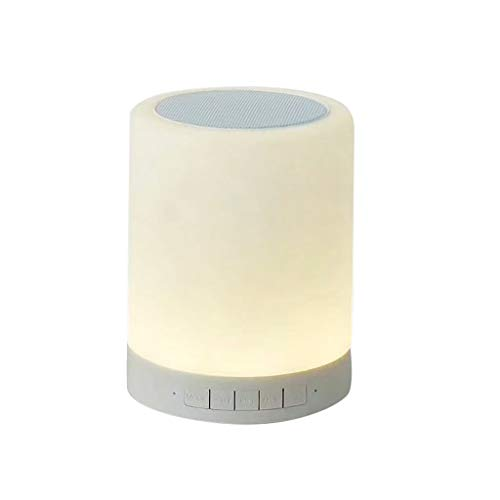 LRWEY Portable Smart Lamp Wireless Smart Control Color Changing Bluetooth Speakers für iPhone, Samsung usw.
