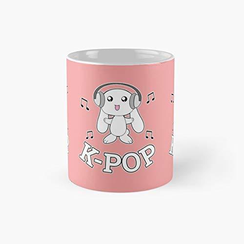 Taza clásica de conejo K-pop con diseño de conejo de 11 onzas