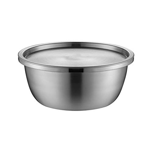 ZXCVB ZHENZEN Ensaladera de Acero Inoxidable Cuenco de Acero Inoxidable Acero Inoxidable 304 Tazón de Cocina ensaladera con Cubierta Apilable Cocción multifunción (Size : 30cm)