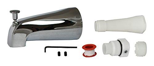 Plumb Pak Universal Fit Bathtub Spout with Diverter, Polished Chrome