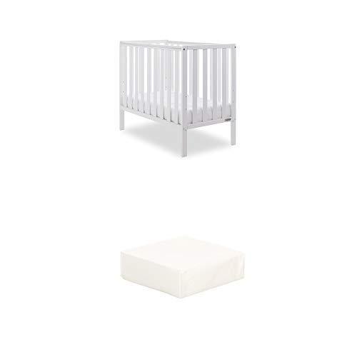 Obaby Bantam Space Saver Cot and Foam Mattress - White