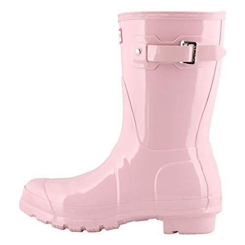 HUNTER Boot Women's Original Short Gloss Rain Boot Foxglove 6 Medium US...