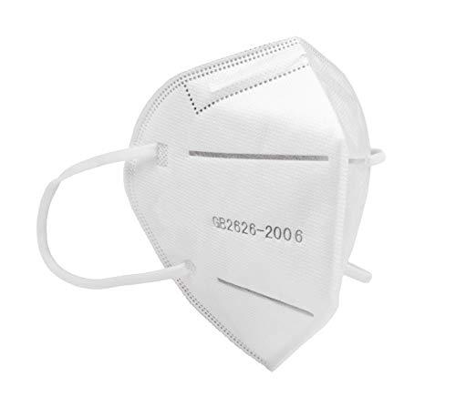 50 Stück FFP2 KN95 Maske   Mund- und Nasenschutz   Schutzmaske   Atemschutzmaske   Atemmaske   Einwegmaske   4-lagig   EU Zertifikat
