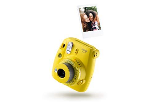 Instax Mini 9 Clear Kamera mit 10 Aufnahmen, Gelb