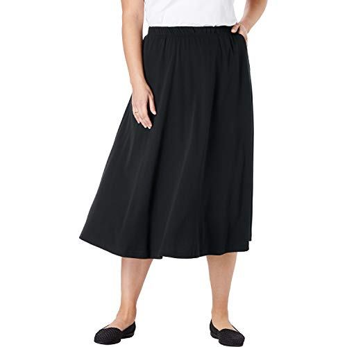 "PLUS SIZING: Size Large will fit Plus sizes 18 to 20 Regular: 32"" length, Petite: 30"" length Cotton/poly, imported Machine washable ABOUT THE BRAND: At Woman Within we're the experts in plus size comfort, and we've been doing this for over 100 years...."
