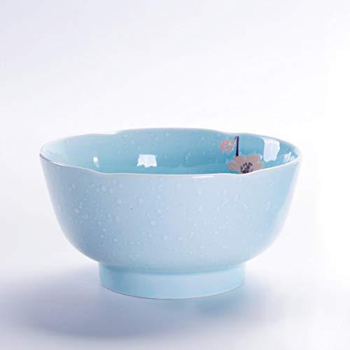ZHDWM Decorazioni da Tavolo di Ceramica della Foglia del Loto Blu del Vassoio del Dessert dello Spuntino del Vassoio dello Spuntino della Minestra di Riso della Ciotola di Tagliatella Ciotola