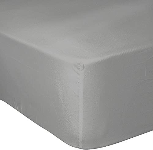 Home Linge Passion – Juego de 2 fundas de almohada, 100% algodón, 57 hilos, 180 x 200 cm + gorro de 25 cm