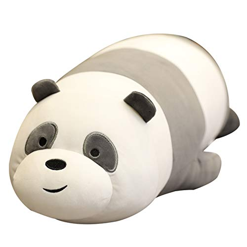 NA We Bare Bears Toy Cartoon Bear Panda Peluche Bambola Kawaii Compleanno per Bambini Morbido Divano Cuscino 48CM/Panda