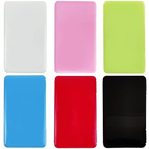 Maske Aufbewahrungsbox 6 Stück Gesicht Abdeckung Aufbewahrungsbox Etui für Maske Tragbare Flache Kunststoffbox Reinigungsbox Masken-Aufbewahrungstasche Aufbewahrungsclips