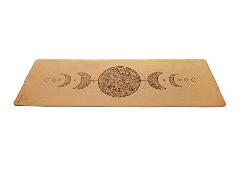 """SEEKA Premium Cork Yoga Mat - Natural Rubber Bottom. Non Slip & Soft, Sweat Resistant. Extra Long and Wide for Comfort. Suitable Also for Hot Yoga. (72"""" x 24"""" x 4.5mm)"""