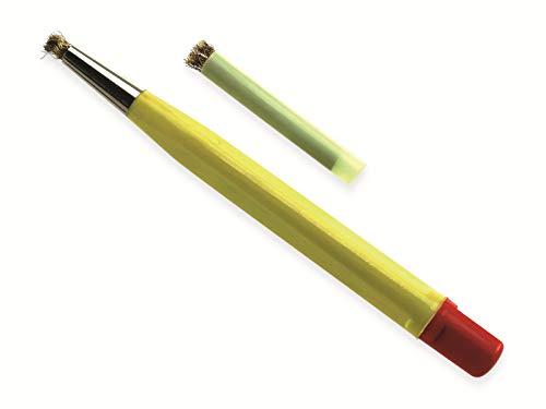 Rostradierer-Stift mit Ersatzbürste, Messing, 120 mm