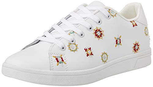 Desigual Shoes_Cosmic_Juliette, Sneakers Woman Donna, Bianco, 36 EU