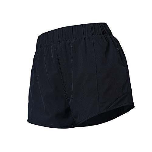 Pantalones Cortos Deportivos de Verano al Aire Libre para Mujer, Transpirables, de Secado rápido, Falsos, de Dos Piezas, Sueltos, para Correr, Entrenamiento, Yoga Small