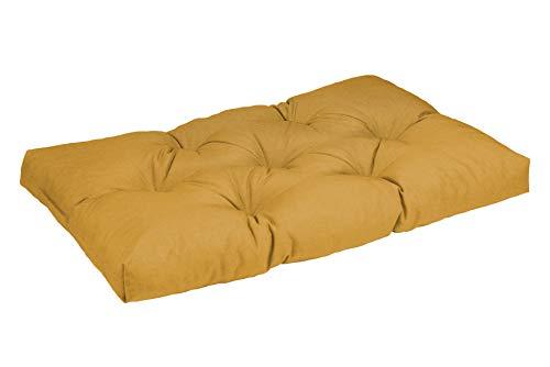 haus & garten Palettenkissen Sitzkissen Palettenauflage Palettenpolster Gartenkissen gesteppt viele Größen (100x40x12, Camel)