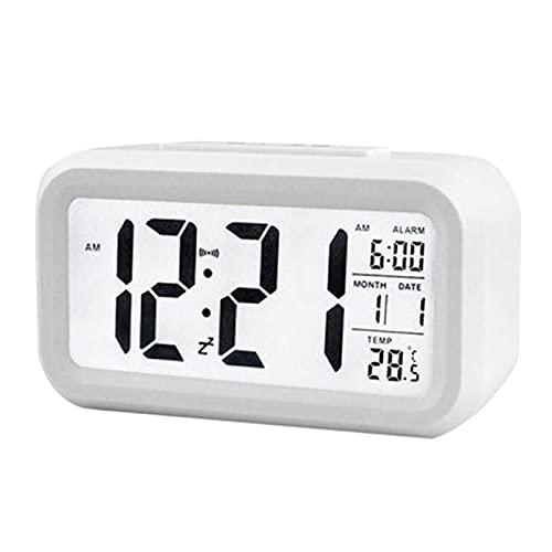 Aiong Reloj Despertador, Reloj Grande con Pantalla de retroiluminación LED Reloj Despertador Digital Temperatura del Reloj electrónico